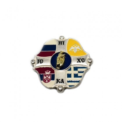 Badge - 4 flags