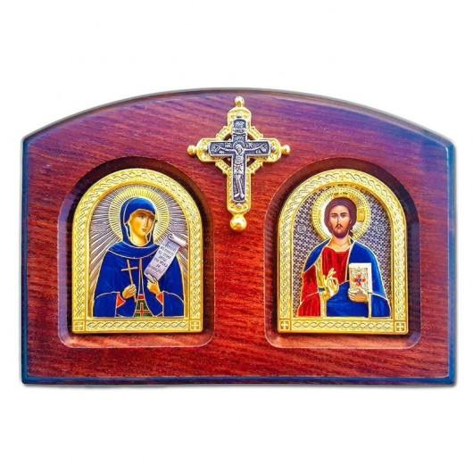 δίπτυχο - Αγία Παρασκευή και ο Ιησούς